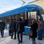 В Челябинске прошла презентация трамвая УКВЗ 71-628
