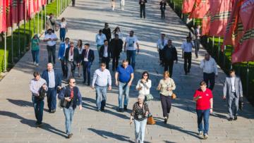 Опубликованы фотографии поездки делегатов Форума на Мамаев курган